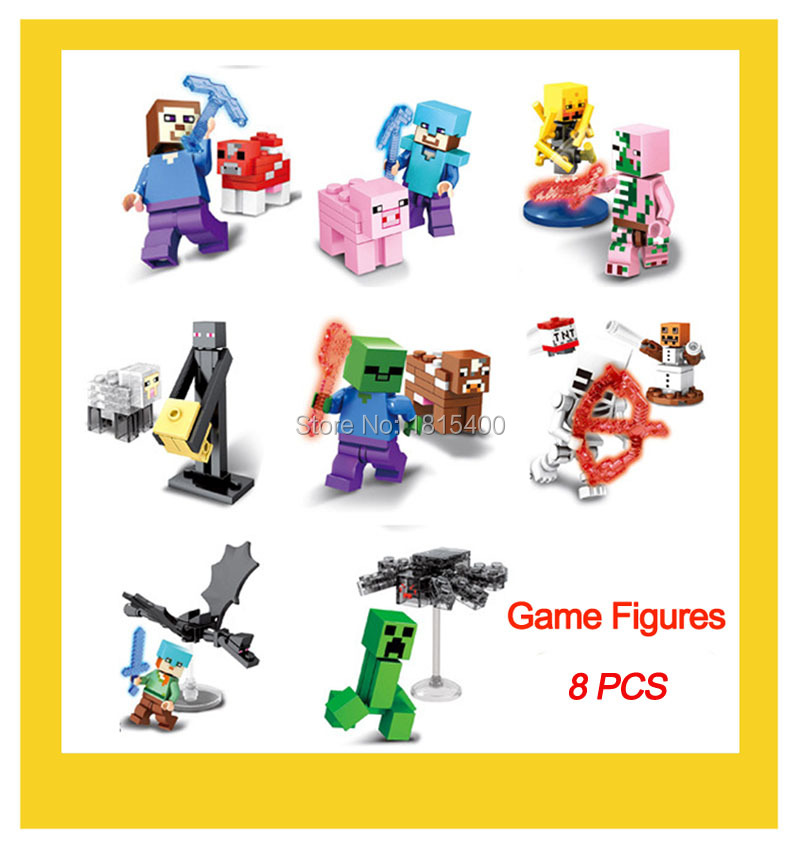 Hot Game font b Anime b font Action Figure Plastic Model Kits Building Blocks Compatible With