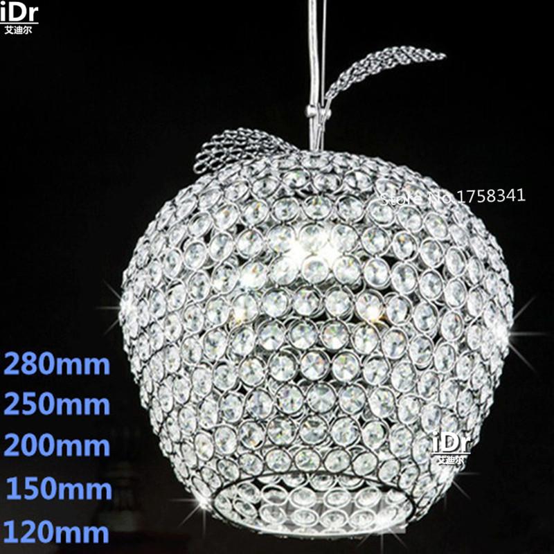 k9 Crystal Chandelier Apple Lustres De Cristal Restaurant LED lights Modern Pendant Lamp PG-1(China (Mainland))
