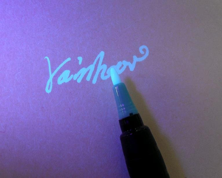 New function security UV marker,permanent UV inks:write secret invisible message,ONLY show 3colors to uv black light<br><br>Aliexpress