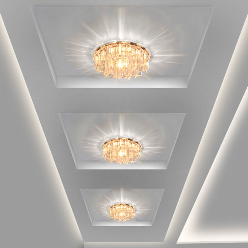 Modern Crystal LED Ceiling lights Fixture Indoor Lamp lamparas de techo 5W LED Hallway Foyer Ceiling Lights Home Decor(China (Mainland))