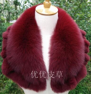 Genuine fur scarf fox fur ring autumn winter fox fur shawl coat collar decoration high quality 100% real fox fur collar(China (Mainland))