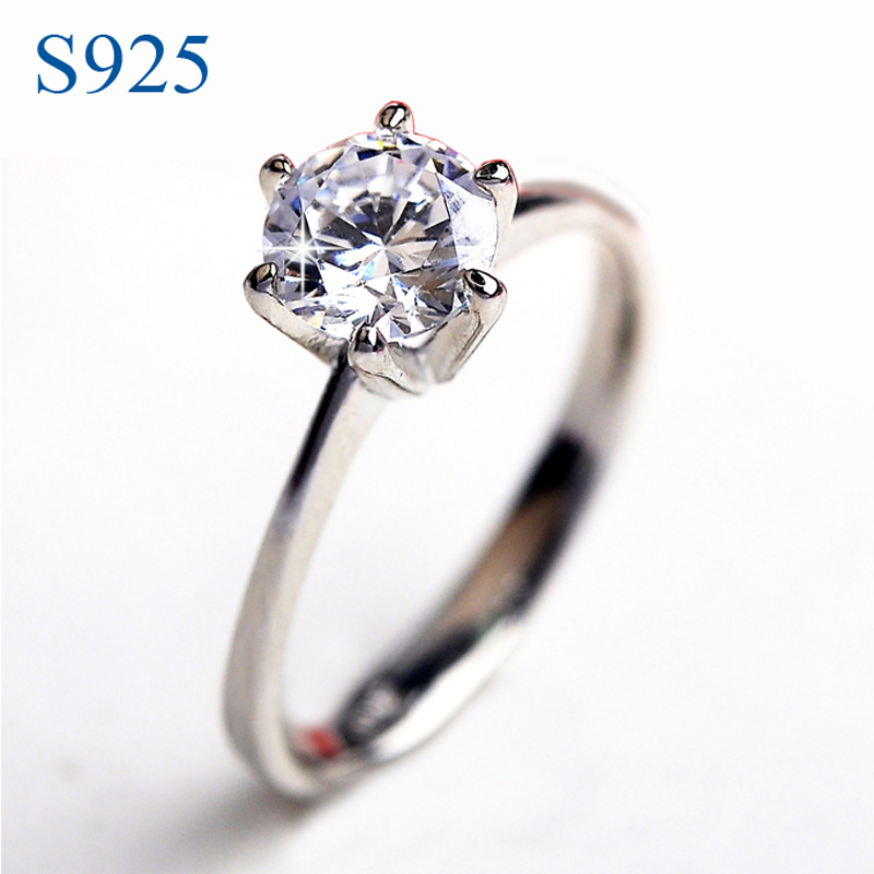 925 sterling silver jewelry wedding rings for 1carat