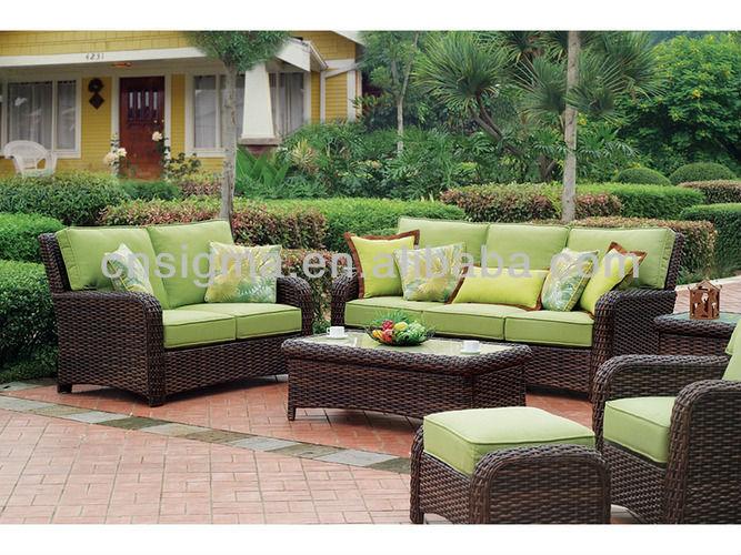 Conjunto de muebles de terraza compra lotes baratos de for Sofa mimbre terraza