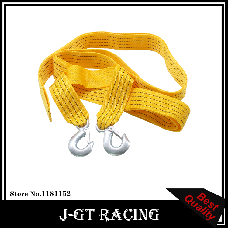 High Quality 3 Tons 4M Car Tow Rope Cable Towing Strap with Hooks Emergency Heavy Duty Car Tool(China (Mainland))