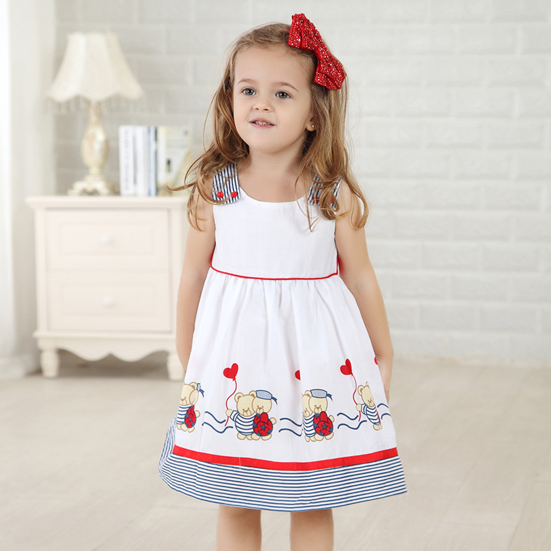 Wholesale kid girls dress  pattern party dress lovely style baby girls dress sleeveless baby girls dress  6pcs/1lot   2014912-01<br><br>Aliexpress