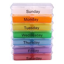 Medicine Weekly Storage pillbox 7 Day Tablet Sorter medicine Box Container Case Organizer pill cutter(China (Mainland))