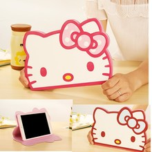 New 3D Cute Hello Kitty Case For IPad Mini Case Stand PU LeatherTablet Cover For IPad Mini 2 Case For Ipad Mini 3 For Ipad Mni 1(China (Mainland))