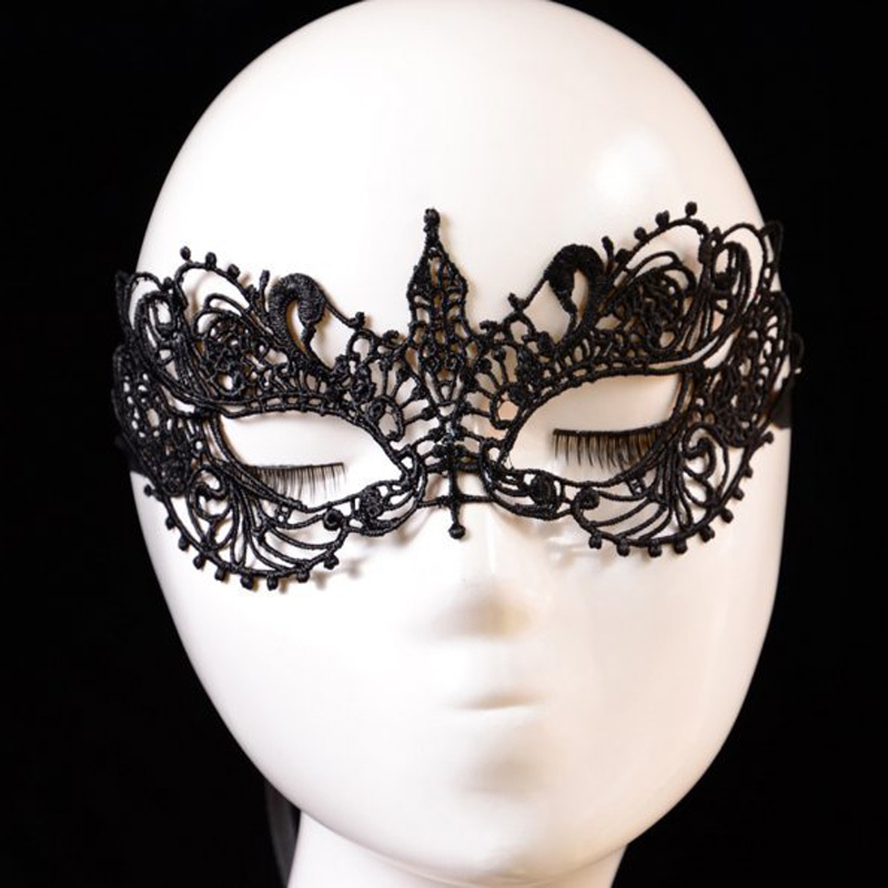 1Pcs Black Lace Floral Mask For Sexy Lady Cutout Eye Face Mask Masquerade Mysterious Masks For Home Party Fancy Dress Costume(China (Mainland))