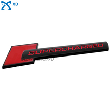 Metal Sticker Red and Black Decals Car Styling Universal Supercharged Emblem Badge For Dodge Chevrolet VW Accessories Stickers(China (Mainland))