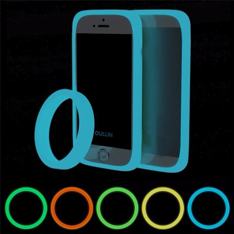 Brand New 5 Color Fashion Round Ring Fluorescent Luminous Phone Bumper Case Silicone Bracelet For iPhone For Other cellphone(China (Mainland))