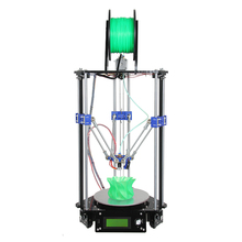 Delta 3D Printer Kit  Diy Open Source High Precision Kossel Rostock Free 1kg Filament and LCD2004 Display as Gift
