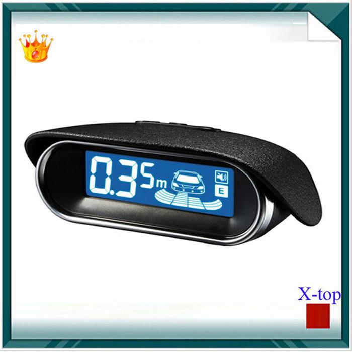 Parktronic parking sensor System with 4 sensor 6 Color fashion buzzer alarm styling wireless LCD display Reverse Radar Rear view(China (Mainland))