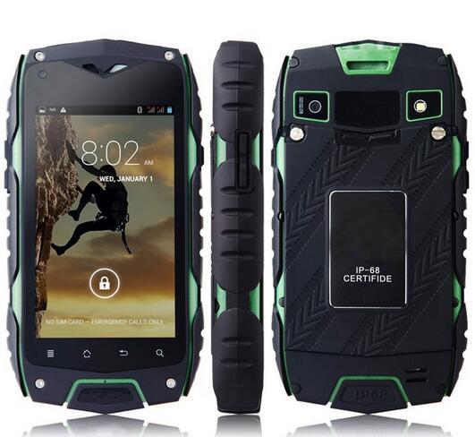 JEEP Z6 MTK6572 Dual Core Waterproof Mobile Phone 4.0incn IPS 512MB RAM 4GB ROM Android 4.2 5MP GPS WCDMA 3G Dual SIm Smartphone(China (Mainland))