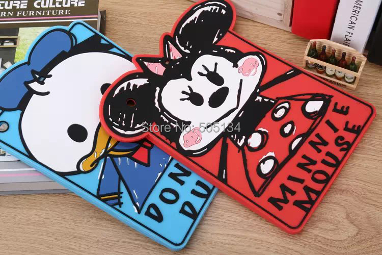 3D Cartoon Cute Graffiti Mickey Minnie Mouse Donald Daisy Chip Dale Goofy Silicone Rubber Case Cover For iPad 5 Air Skin(China (Mainland))