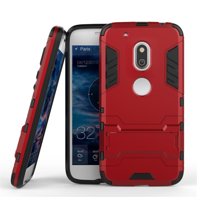 Shockproof Stand Hard Phone Cases for Motorola Moto G4 Plus Case Rugged Holster Cover Protect Outdoor Phone Accessories Coque(China (Mainland))