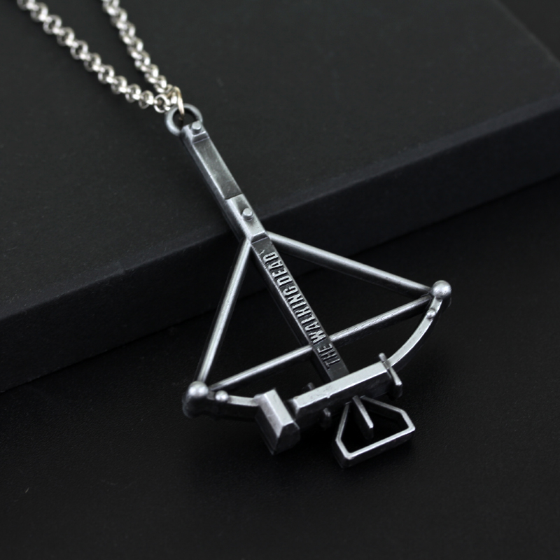 The Walking Dead Necklace Crossbow Zinc Alloy Pendant necklace Jewelry Accessories Fashion Films for women man(China (Mainland))