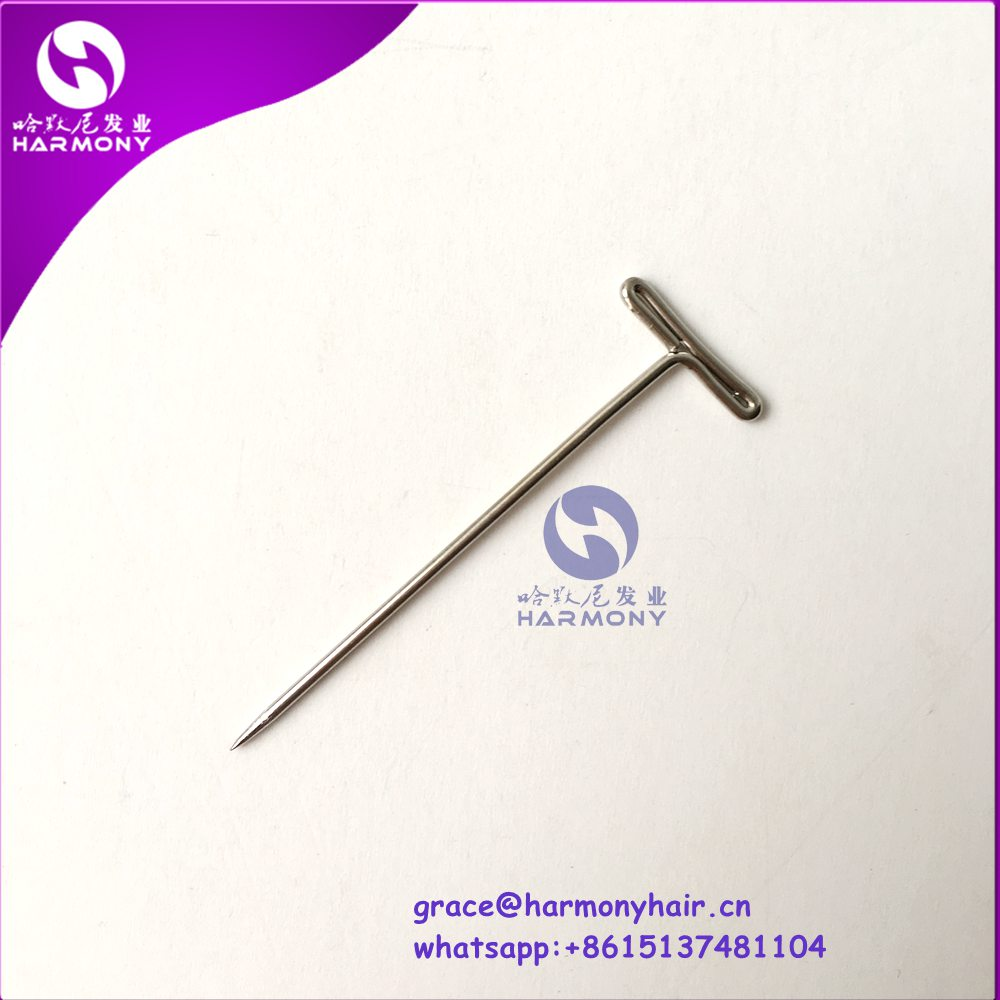 FREE SHIPPING 60pcs/lot T pins for wig hair piece, toupees,hair weaving making fixed on canvas head T shape needles tool