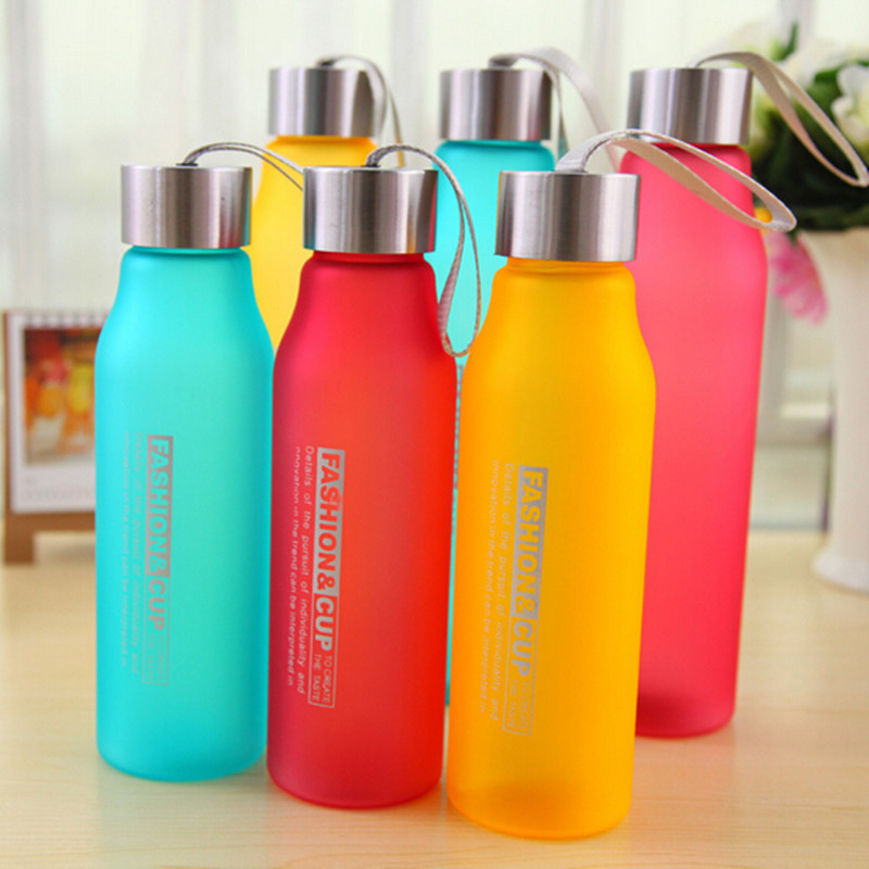 Wholesale Free shipping Multicolour matting 600ML/800ML Plastic portable sports water bottles High Temperature Resistant bottle(China (Mainland))