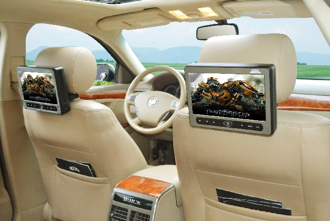 "Free Shipping LM918 car cd dvd player 9"" TFT LED Headrest with Touch panel car multimedia car(China (Mainland))"