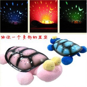 Turtle Night Light Star Projector w/ Music+1pc free USB+ 2 colors