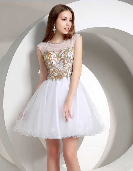 White Homecoming Dress Omenas Benen