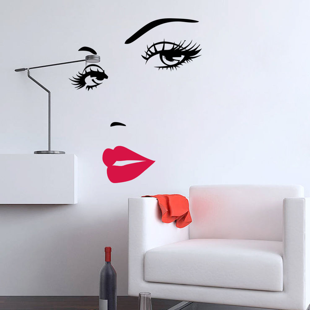 D349 Removable woman's Sexy Lips Vinyl Wall stickers Wall Decal Wall Decor Mural Art(China (Mainland))
