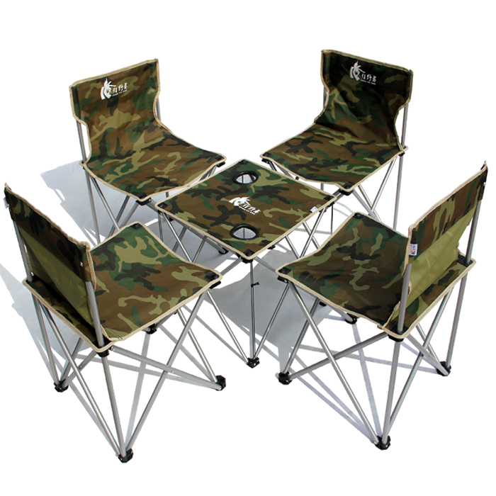 Wild wild Camouflage outdoor folding tables and chairs portable 5 piece set t