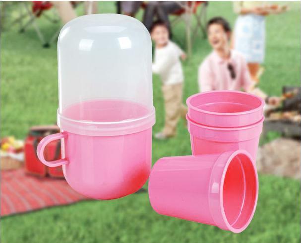 Travel Essentials Health stylish travel mug sets 5 sets of plastic cups tea set tea cup