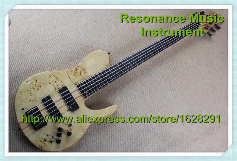 100% Real Pictures 5 Strings Bass Guitars Neck Through With Mini Toggle(China (Mainland))