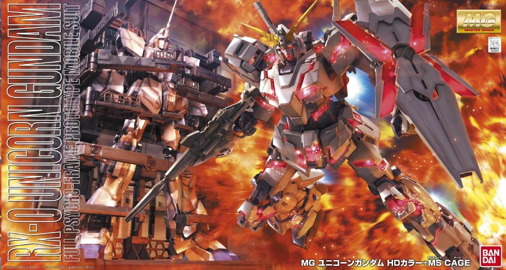 100% Genuine bandai model 1/100 MG RX-0 UNICORN GUNDAM SCREEN IMAGE SPECIAL SP Gundam UC Assembled Robot gunpla(China (Mainland))