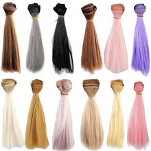 [wamami] Straight Hair Extension/DIY Hair Wig/Hair Piece For BJD Dollfie 1pc Colorful(China (Mainland))