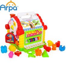 Multifunctional Musical Toys Colorful Baby Fun House Musical Electronic Geometric Blocks Sorting Learning  Educational Toys(China (Mainland))