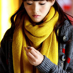 2014 autumn and winter thermal yarn scarf long cape women's muffler scarf lovers scarf(China (Mainland))