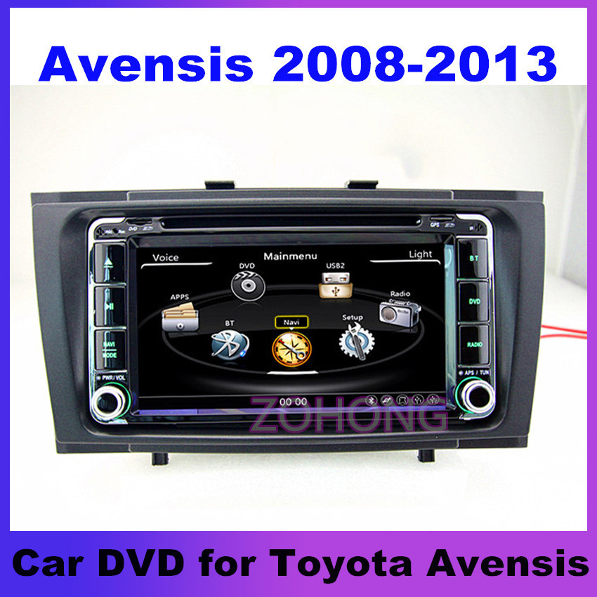 Toyota avensis 2008 2009 2010 2011 2012 car dvd player with gps Radio navigation 3G USB SWC support with Free map(China (Mainland))