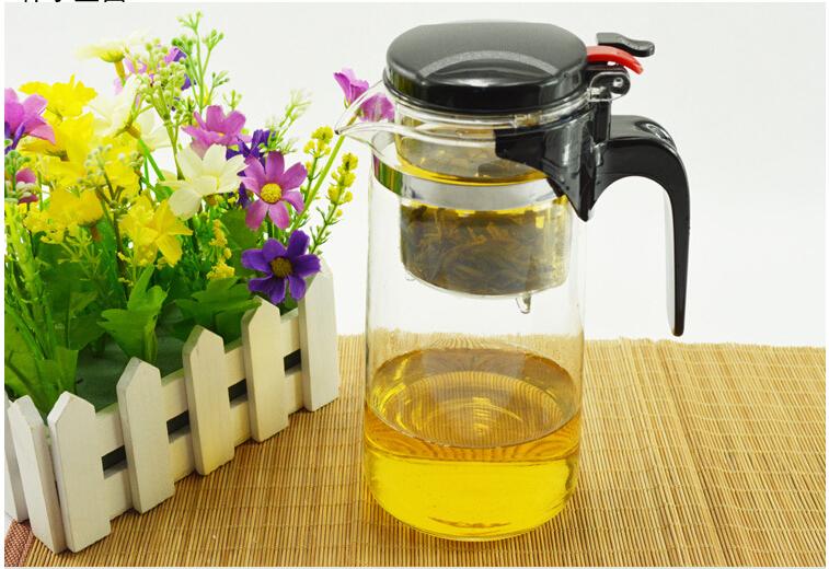 Wholesale Hot!New 900ml simple tea kettle tea-pot Heat-Resistan Glass Teapot Convenient Office Tea Pot Set ETP002(China (Mainland))