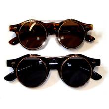 Круг солнечные очки стимпанк очки очки ретро перевёрнутый вверх Cyber shot панк для верхней одежды # L07055