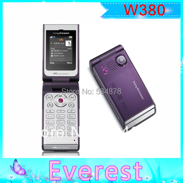 W380 Original Sony Ericsson Wholesale Flip unlocked Cell Phone support russian keyboard Free shipping(China (Mainland))