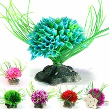 Glorious Artificial Water Plant Graceful Green Grass Ornament Aquarium Fish Tank(China (Mainland))