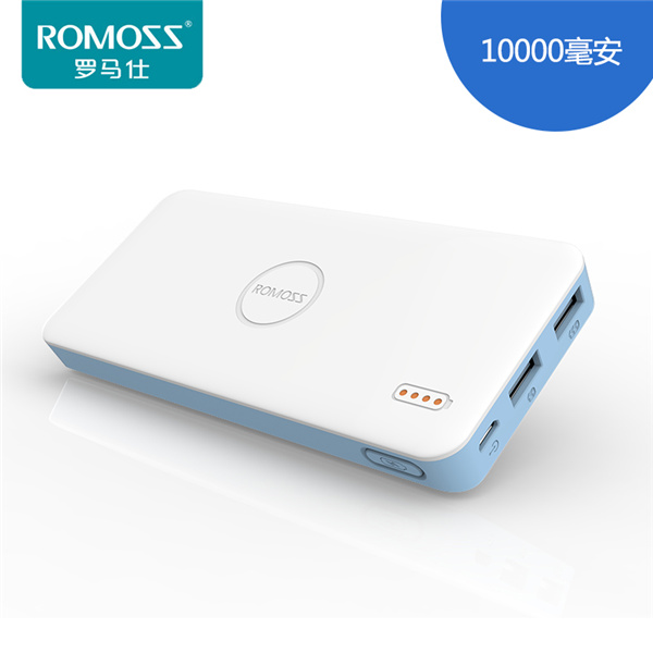 Original ROMOSS Brand Dual USB 10000mAh Li-polymer Power Bank Powerbank Battery Bank Portable Charger Power Bank 10000mAh(China (Mainland))