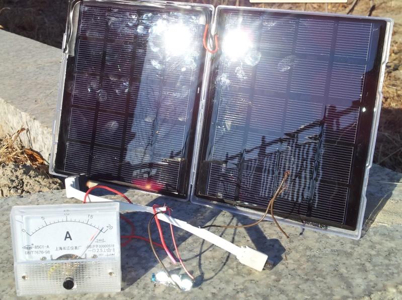 Epoxy plate monocrystalline silicon solar charging panels 5V5W solar mobile charging plate Gift Box Set(China (Mainland))
