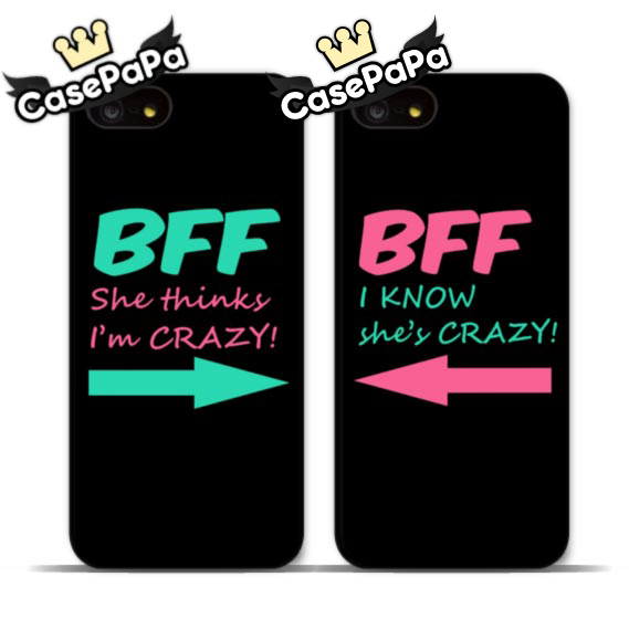 The Crazy Best Friend Cell Phone Case For iPhone 6 6 Plus 5 5s 4s 5C For iPod 5 4 Lovely Mint And Pink BFF Cover(China (Mainland))