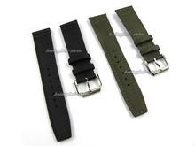 22 mm nueva correa para reloj verde y negro Nylon + cuero pin banda hebilla broche de acero inoxidable para IW C reloj