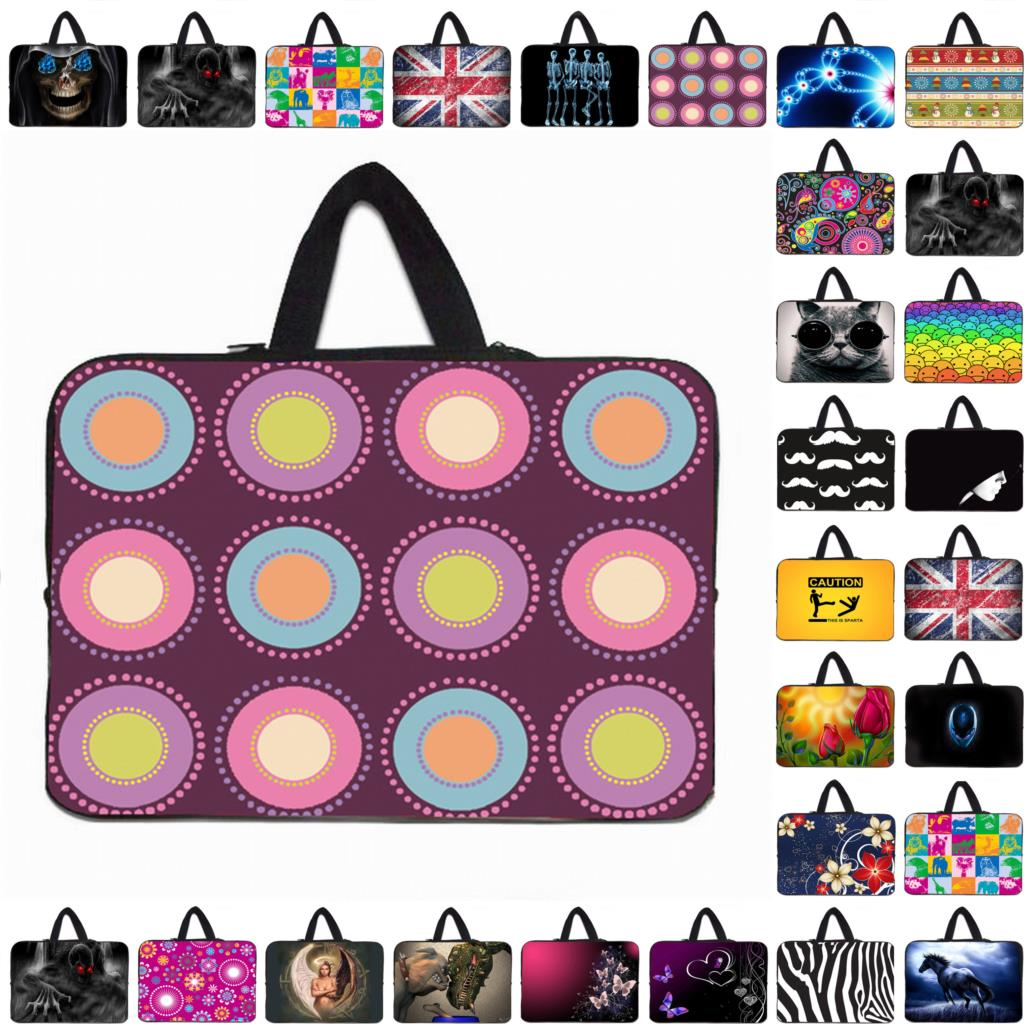 Vogue Carry Handle 17 15 14 13 12 10 7 inch Notebook Laptop Computer PC Sleeve Bag Zipper Cases Cover Pouch Free Shipping(China (Mainland))