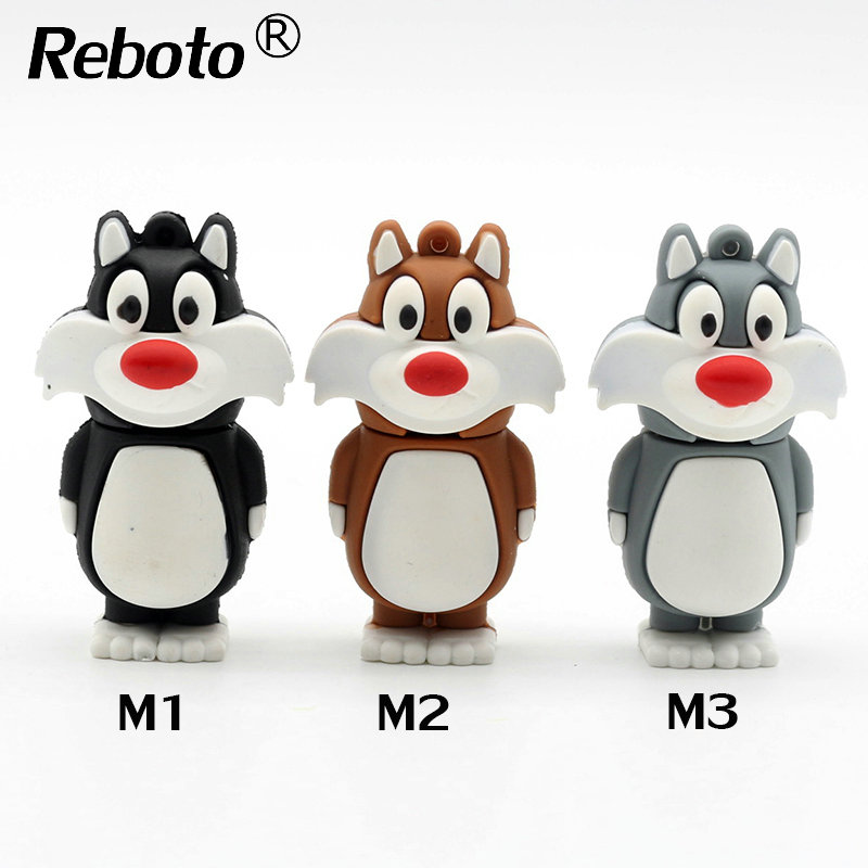 Top selling USB flash drive lovely Cat 4GB 8GB 16GB 32GB USB 2.0 flash drive pen drive 64GB memory stick pendrive(China (Mainland))