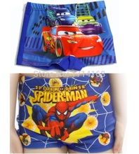 Car Flash Spiderman Boy's swimwear Beach Pants Character kids underpants 1pcs/lot