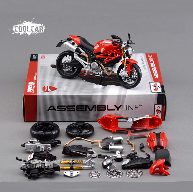 New DIY 1:12 Maisto Motorcycle Model Metal Kit Diecast Motorbike Model Maisto Assembly Toys Brinquedos Collection Gift(China (Mainland))