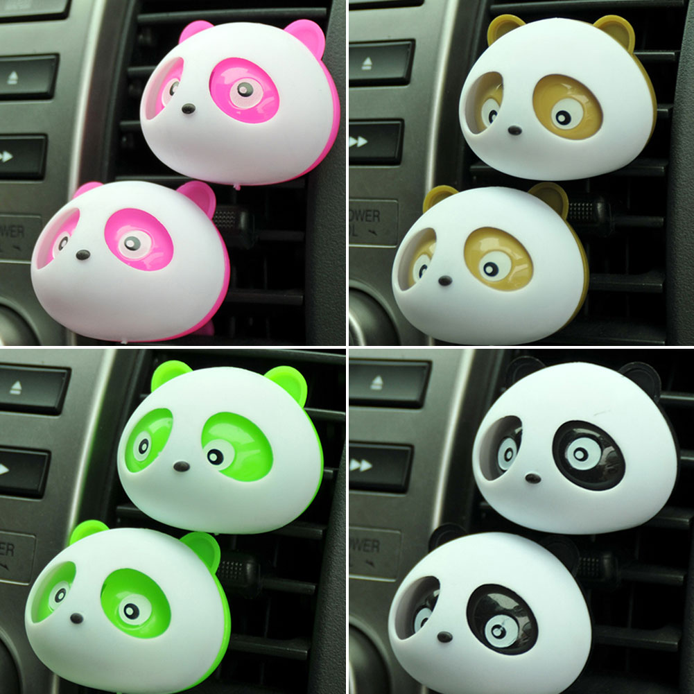2Pcs Air Freshener Lovely Mini Panda Perfume Fragrance Fragrant Flavour Diffuser For Auto Car Dashboard Vehicle 4 Color(China (Mainland))