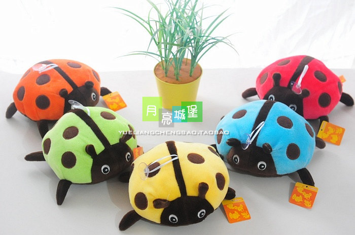 16cm spot ladybird plush toy doll baby gift w4589<br><br>Aliexpress