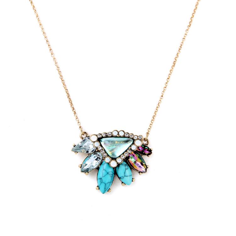 Pendant Necklace New Bohemian Brand Jewelry Look Hot Sale Choker Stone Multicolor Perfume Women Necklaces & Pendants Bijoux(China (Mainland))