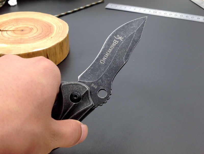 Buy Folding Knife Browning Pocket knife 7CR17MOV Blade Steel Handle Survival Knives Hunting Tactical Knifes Camping Outdoor Tools b1 cheap